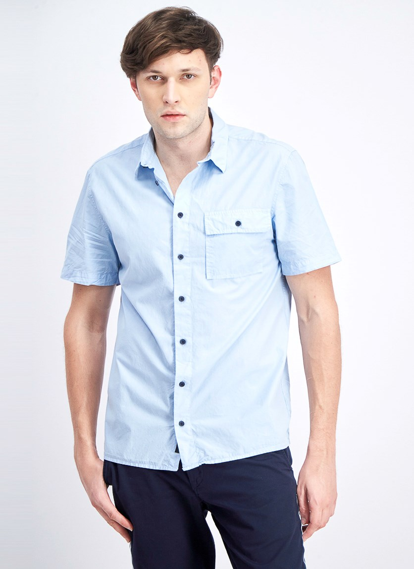 Men's Camp Shirt, Cerulean