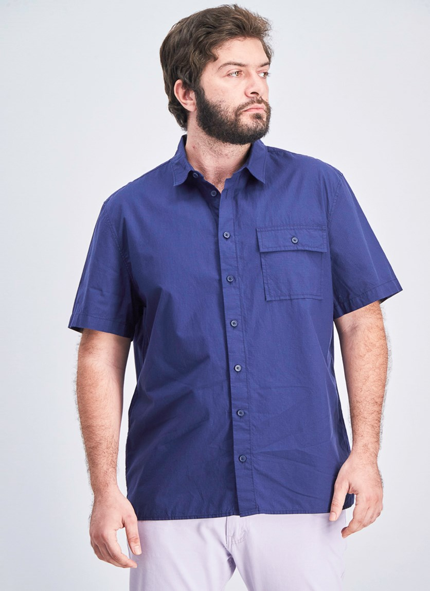 Men's Casual Short Sleeve, Navy