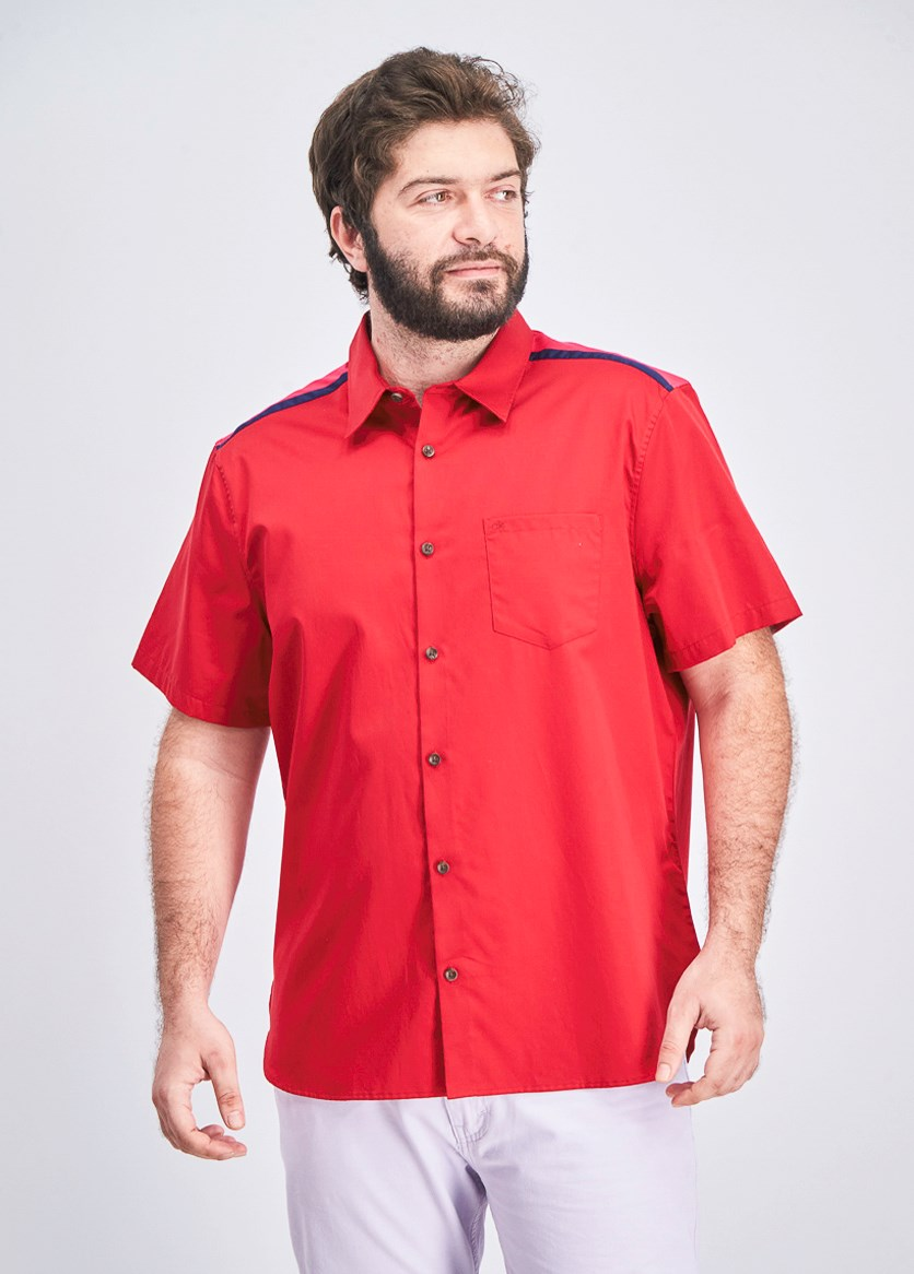 Men's Reeves Pieced Shirt, Red