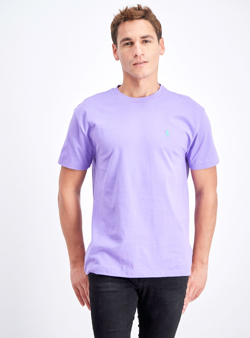 Men's Crew Neck T-Shirt, Purple