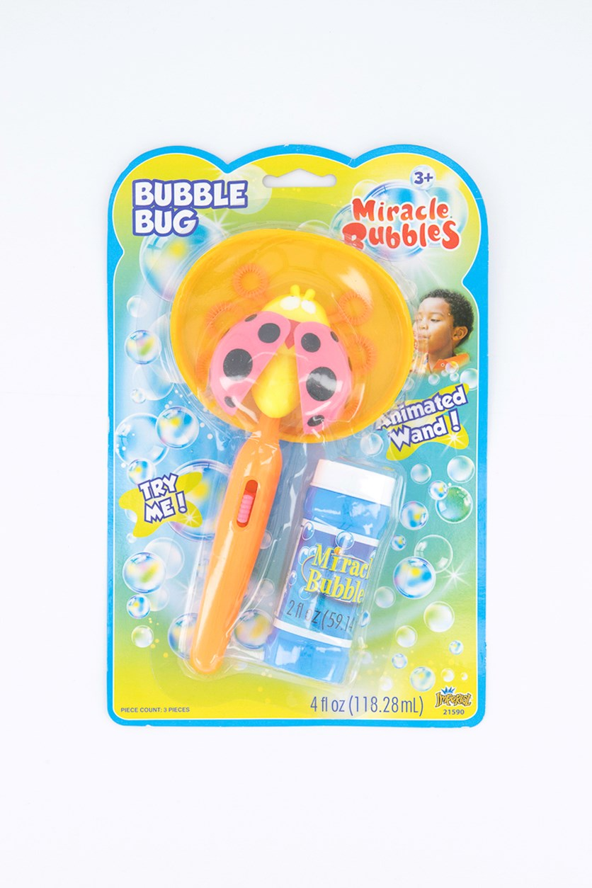 Animated Wand Miracle Bubbles Bug, Orange/Blue