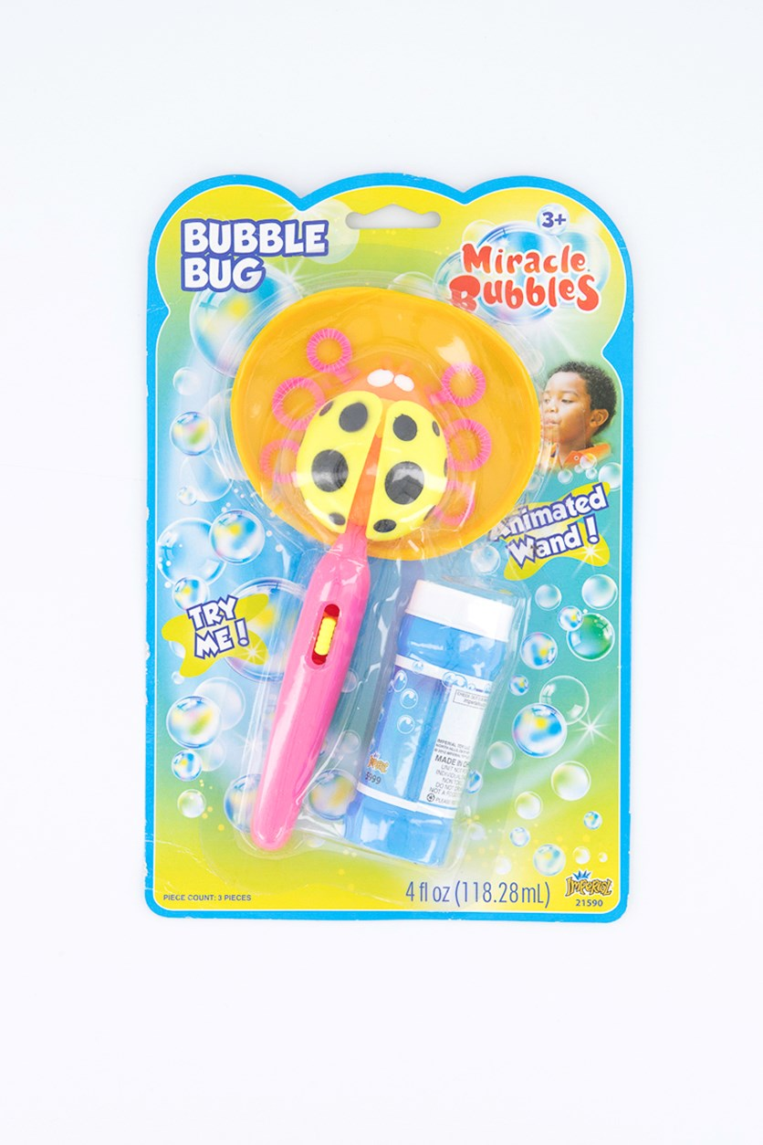 Animated Wand Miracle Bubbles Bug, Pink/Blue Combo