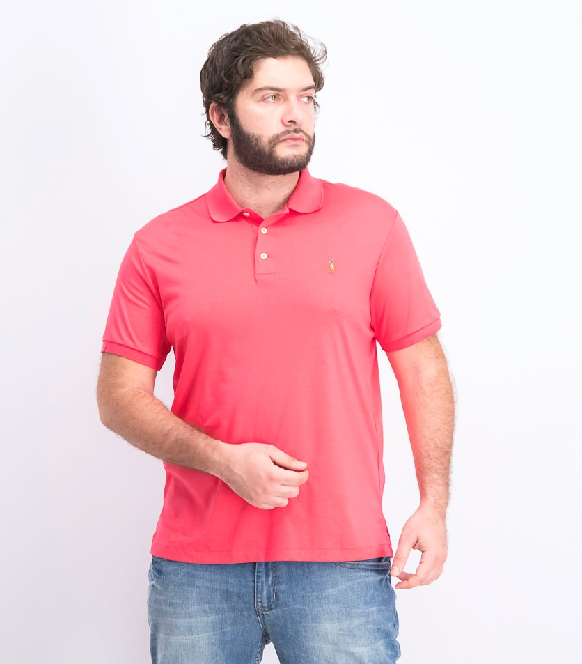 Men's Custom Slim Fit Polo Shirt, Red