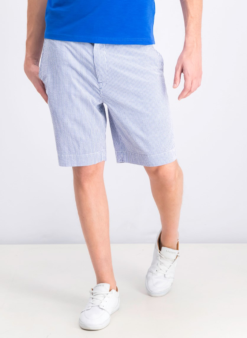 Men's Striped Short, Blue/White