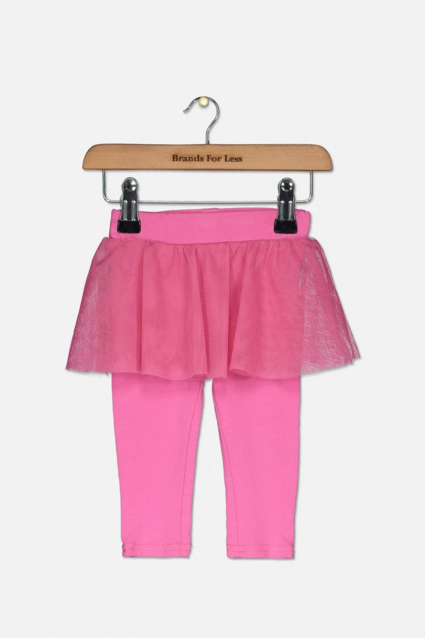 Baby Girl's Legging With Lace, Pink