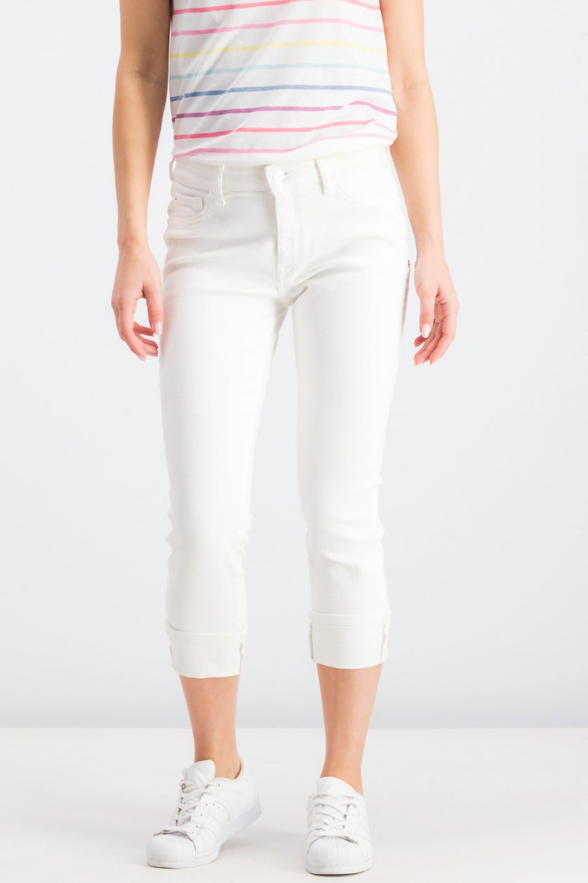 Women's Five Pocket Jeans, White