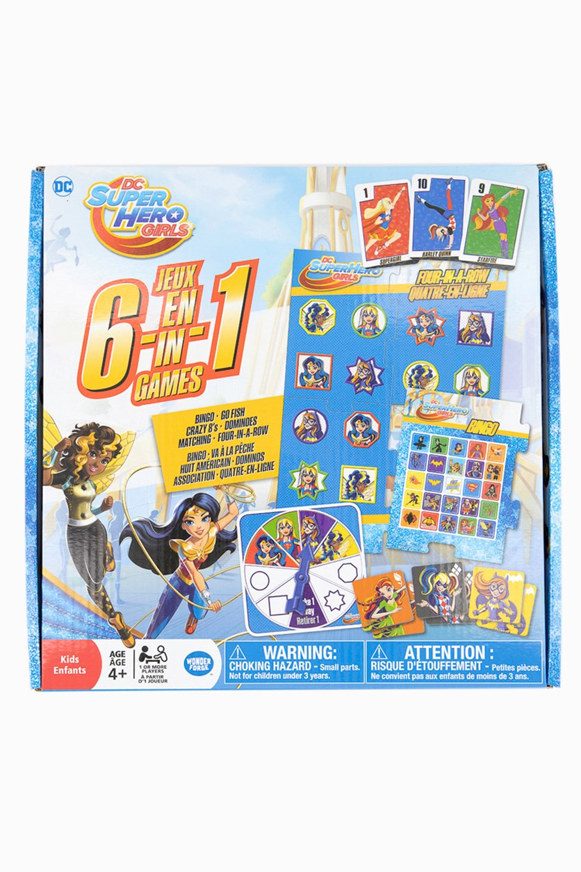 DC Super Hero Girls 6 in 1 Games, Blue Combo