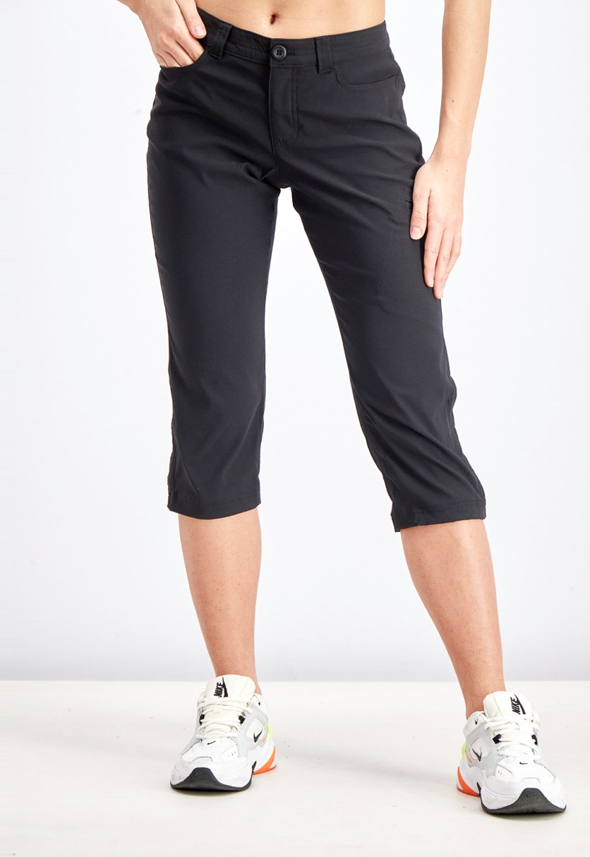 Women's Rainier Capri Pants, Black