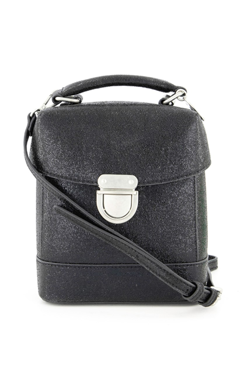 Women's Perf Mini Box Bag Cross Body Bags, Black