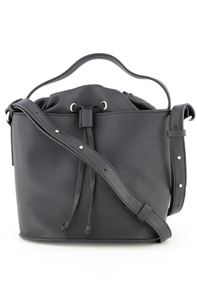 Women's Dane Drawstring Satchel Bags, Black