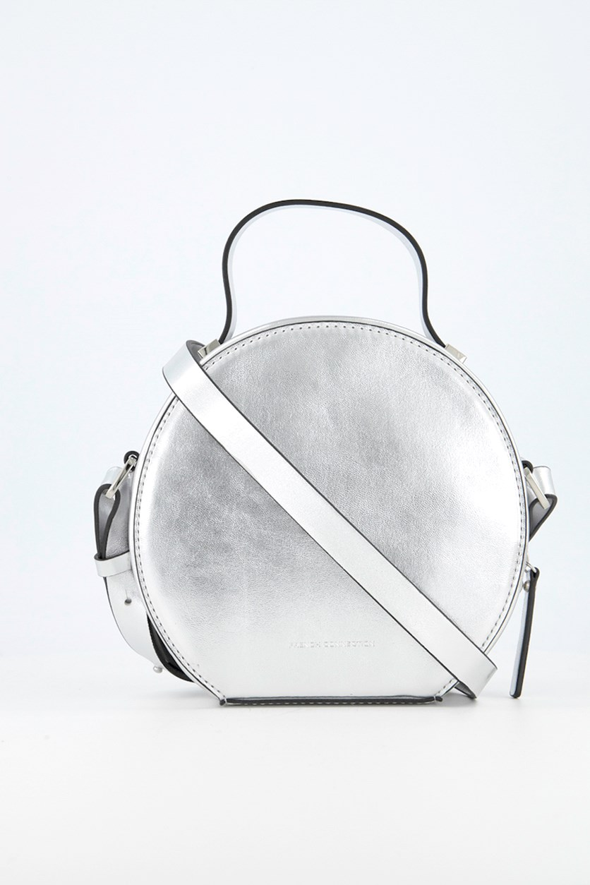 Women's Poppy Micro Mini Cross Body Bag, Silver