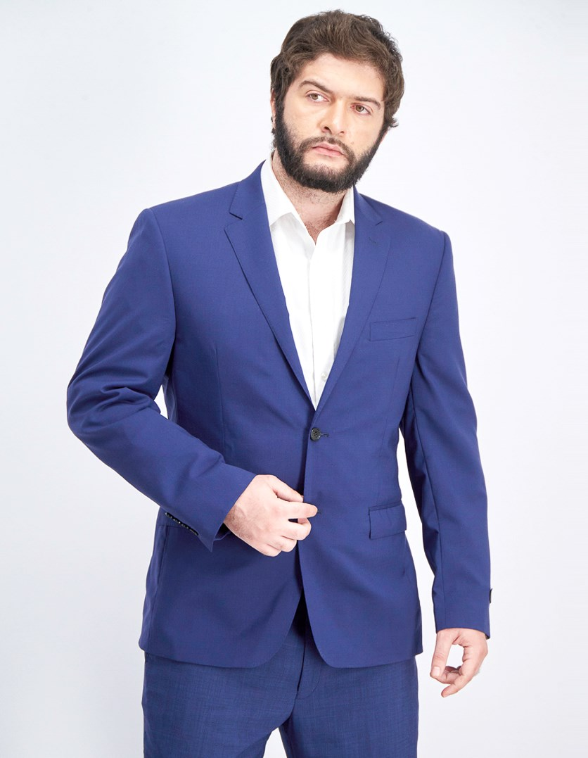 Men's Slim-Fit Ultra-Flex Blazer, Solid Navy