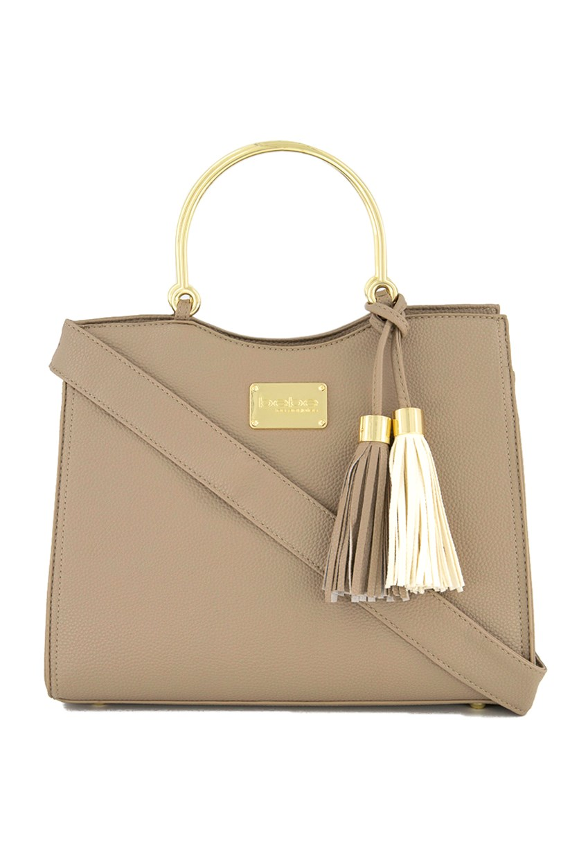 Women's Zsa Zsa Satchel Bag, Taupe