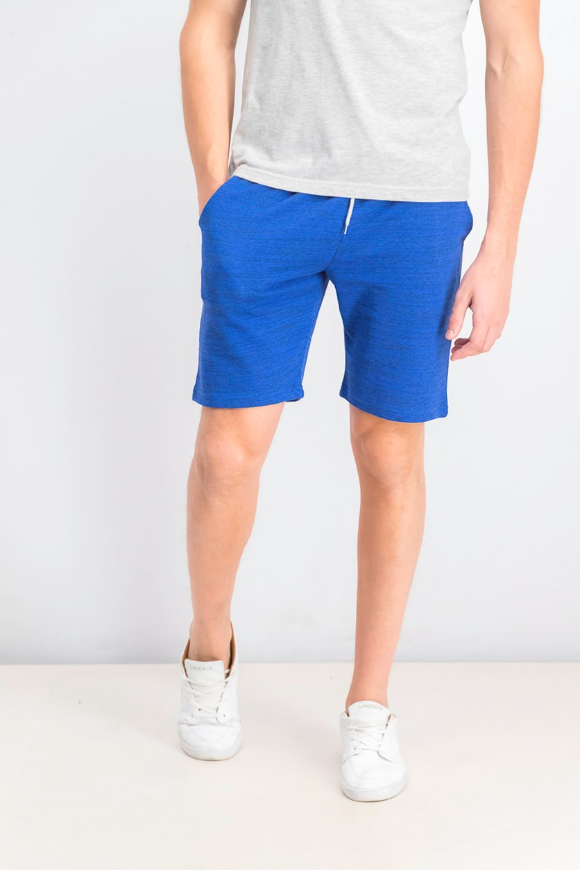 Men's Drawstring Shorts, Blue Heather