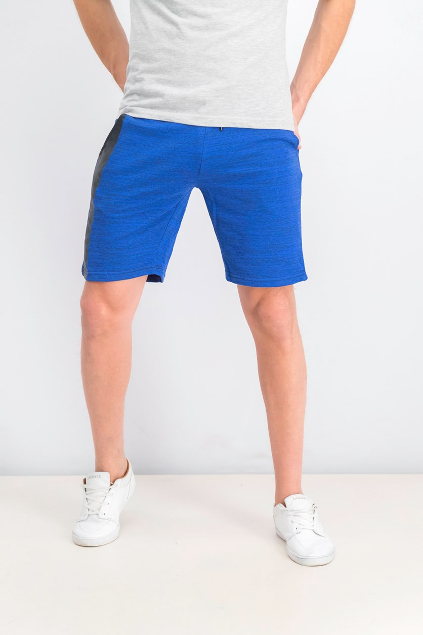 Men's DrawString Shorts, Heather Blue/Black