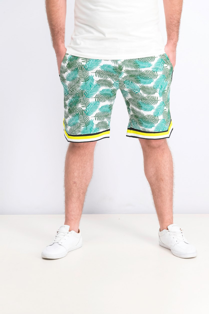 Men's Printed Short, White/Green