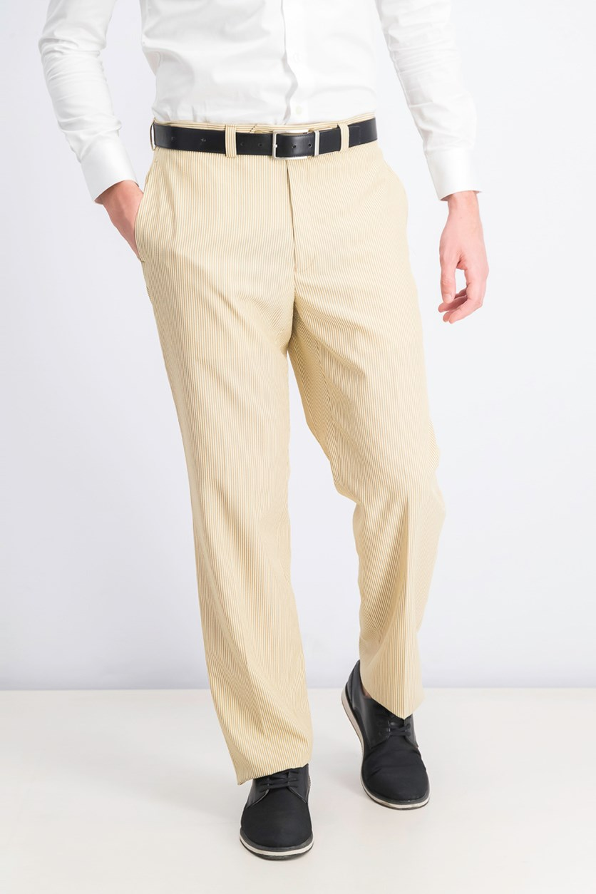 Mens Seersucker Pants, Brown