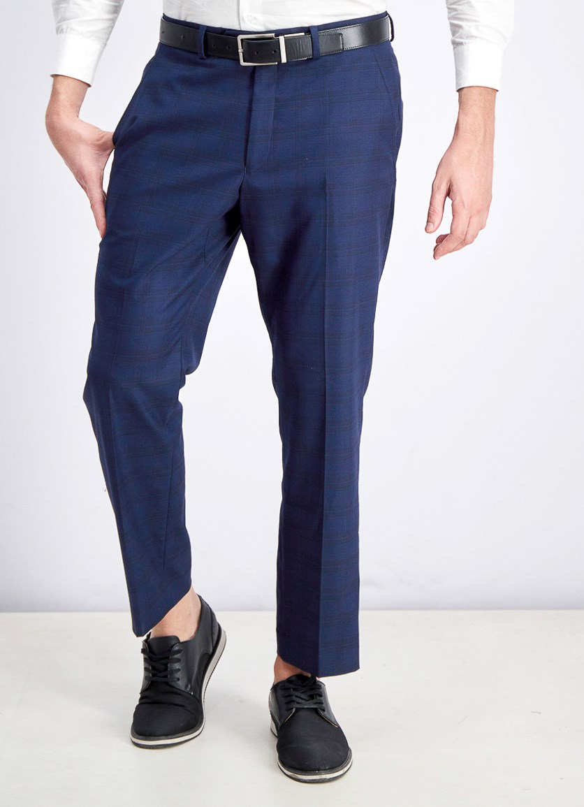 Mens Traveler Slim-Fit Stretch Pants, Navy