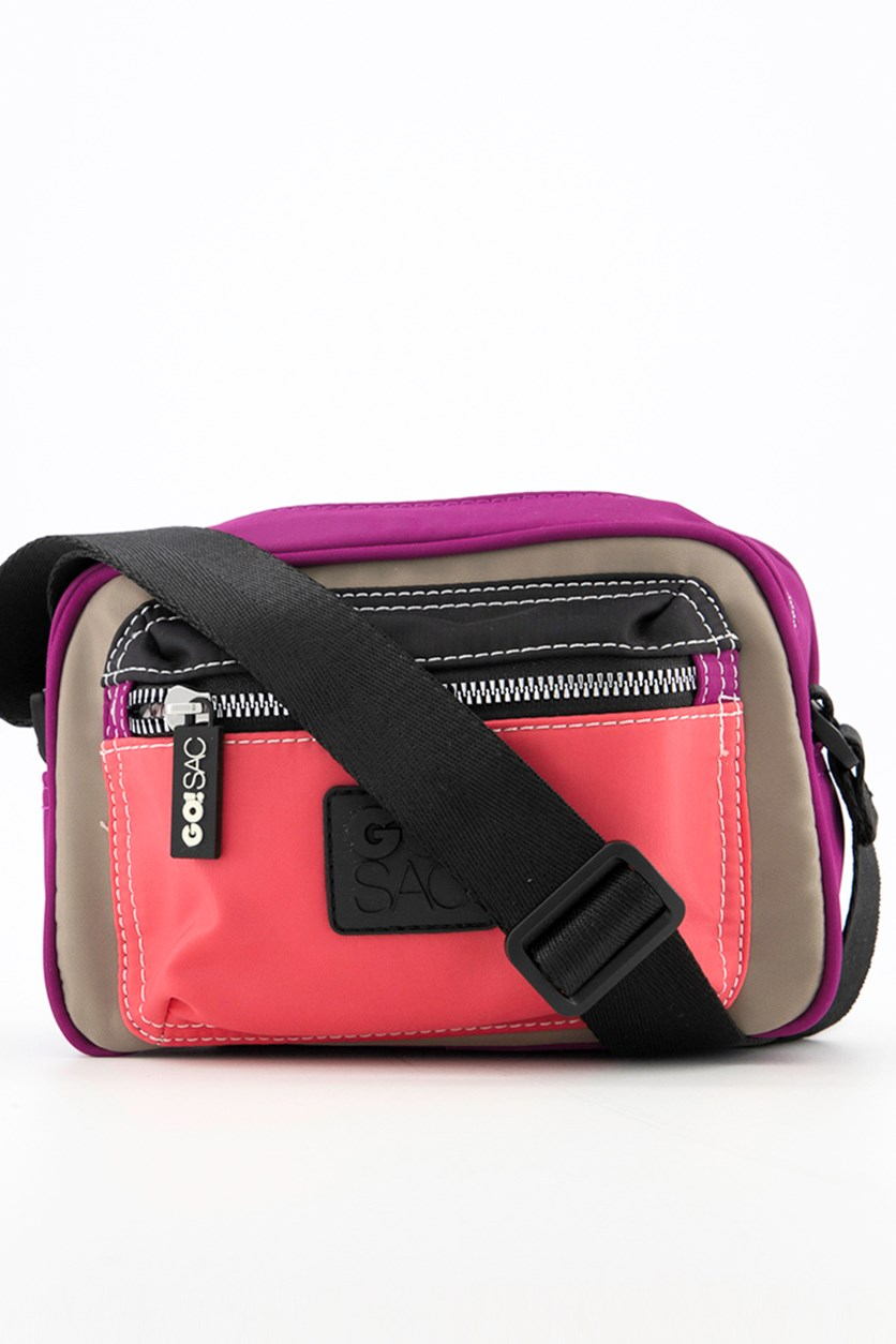Women's Jordyn Shoulder Bag, Purple/Black/Fuschia
