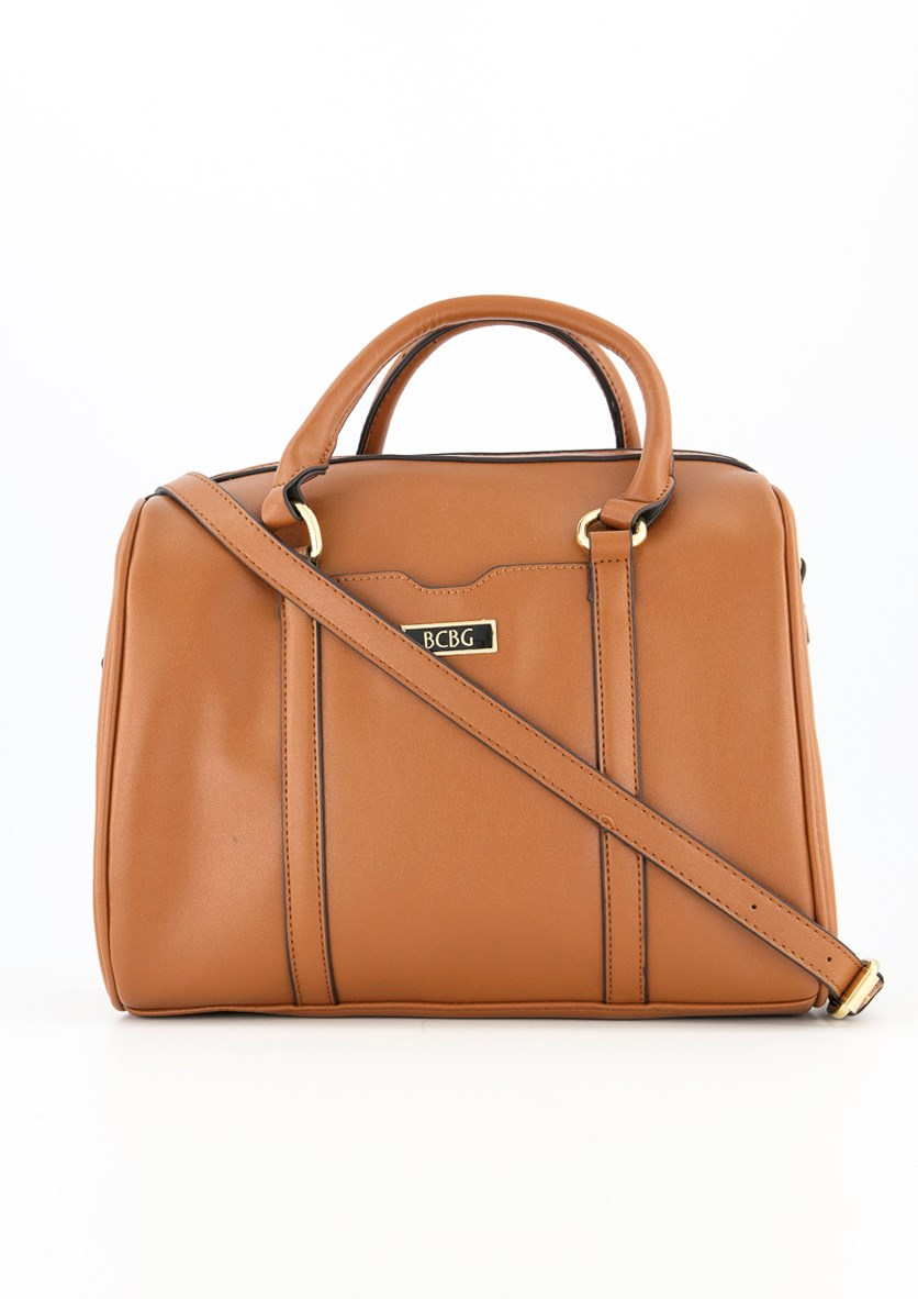 Women's Virginia Satchel Bag, Cognac
