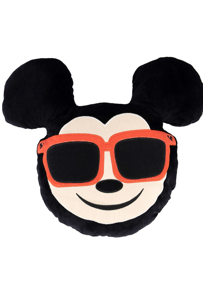 Emoji Mickey Mouse Wearing Sunglasses, Black/Red