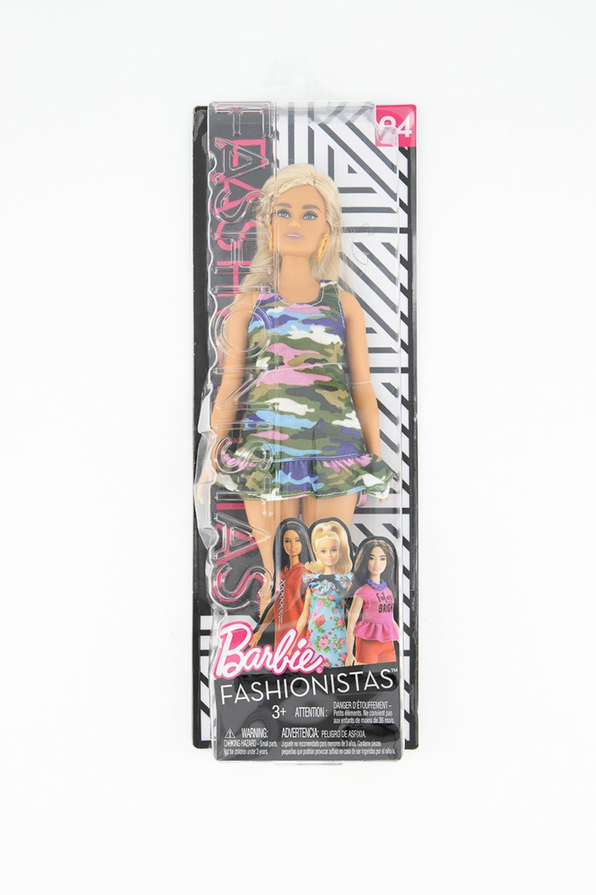 Mattel Barbie Fashionista Camouflage Dress, Olive