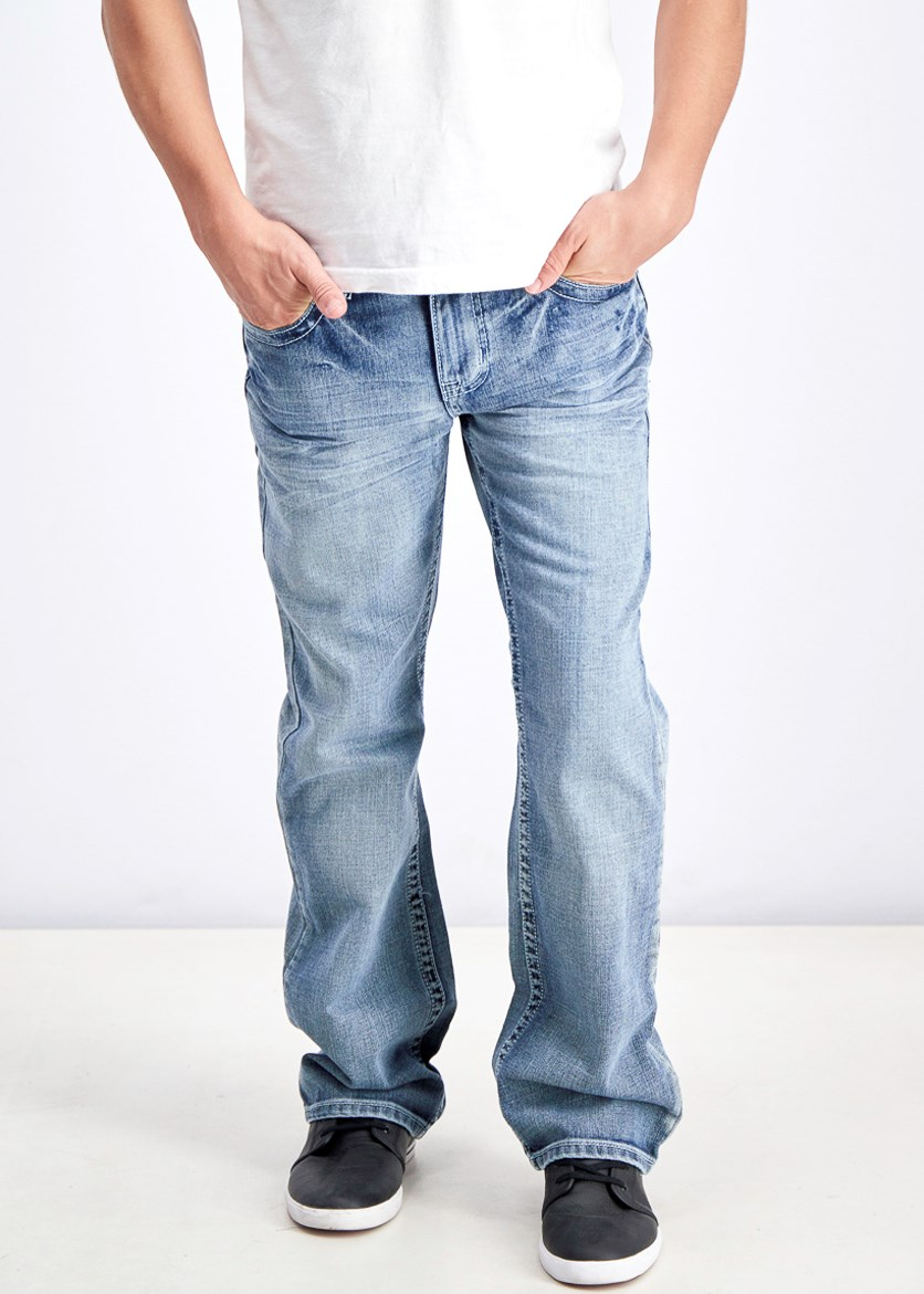 Men's Modern Bootcut Jeans, Medium Wash
