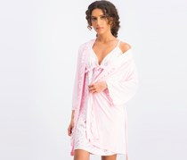 Women's 2-Pieces Metallic Logo Sleep Dress, Pink
