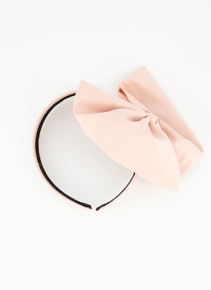 Women's Headband with Ribbon, Peach