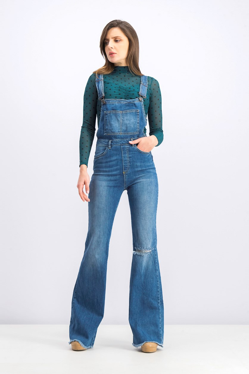 Women's Jumpsuit Denim, Light Blue