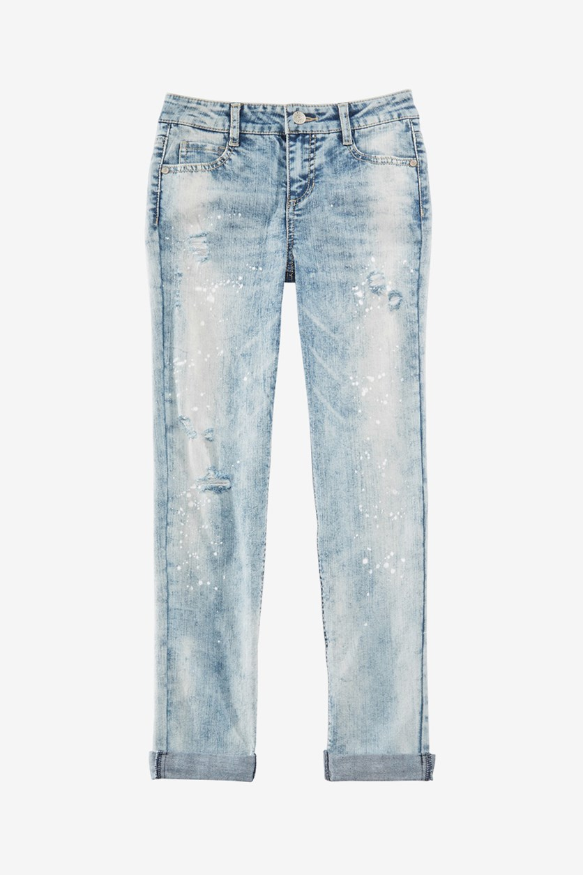 Big Girls Girlfriend Jeans, Dark Wash