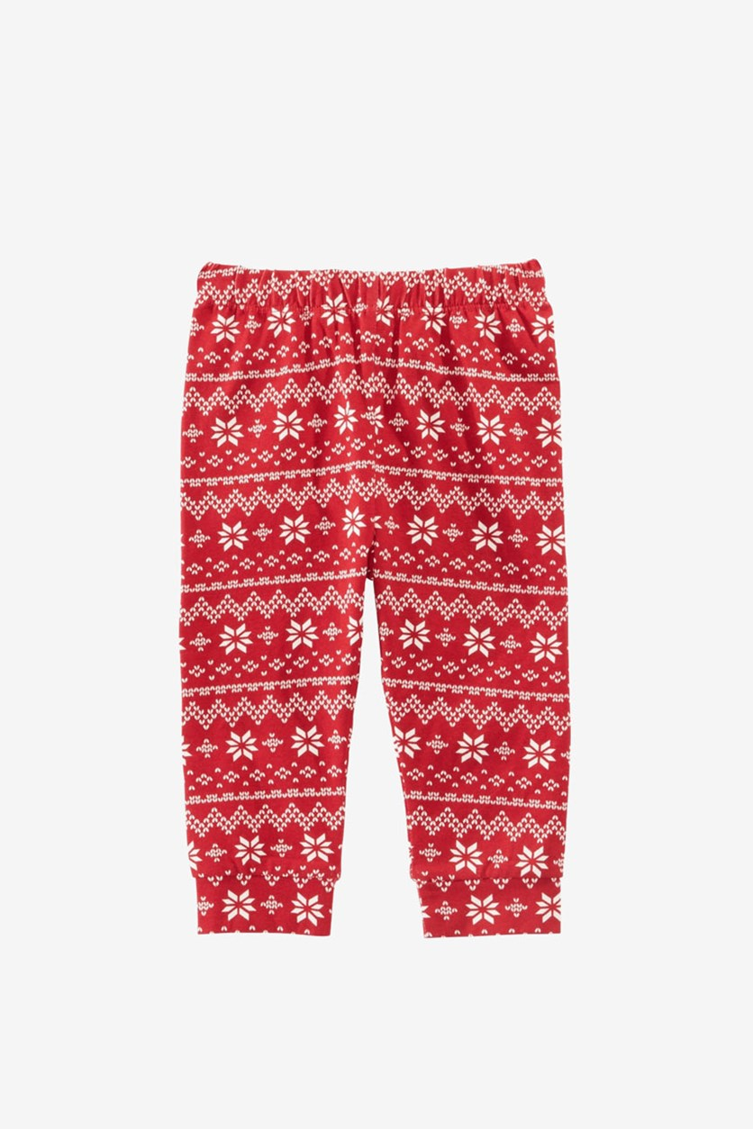 Toddler Girls Fair Isle-Print Leggings, Cherry Red