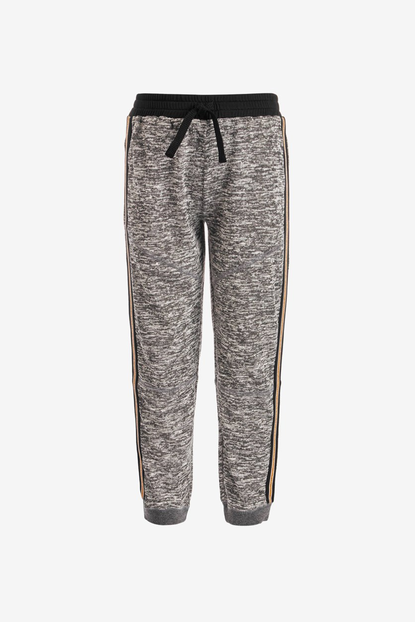 Toddler Girl's Space-Dyed Sweatpants, Charcoal
