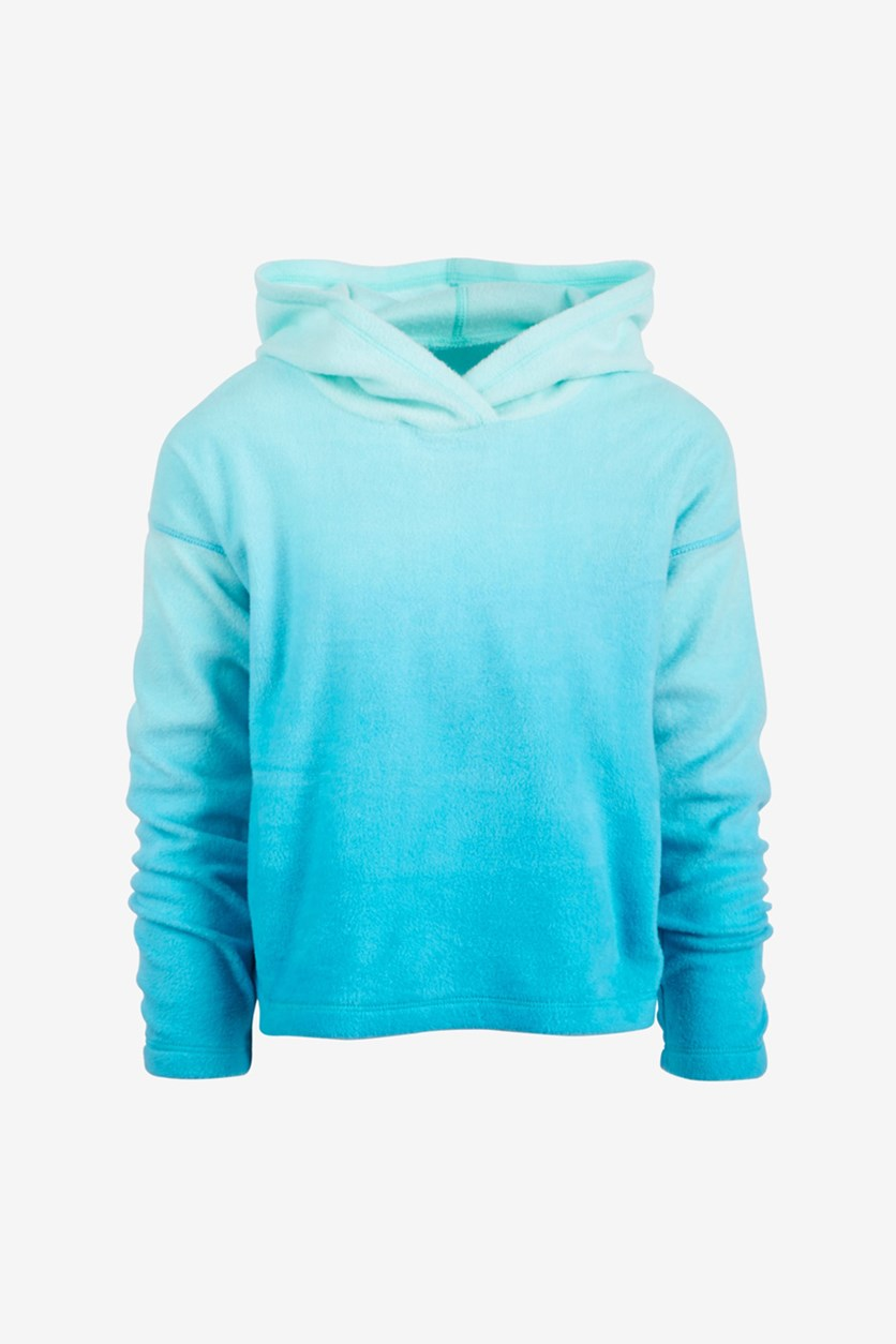 Big Girl's Ombre Fleece Hoodie, Crystal Mist