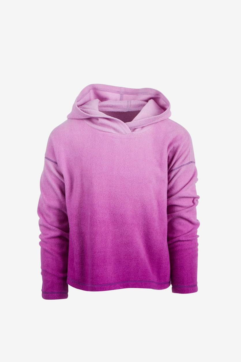 Big Girls Ombre Fleece Hoodie, Purple