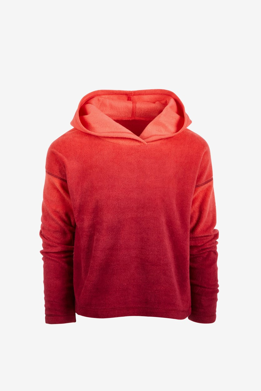 Toddler Girls Ombre Hoodie, Red/Orange