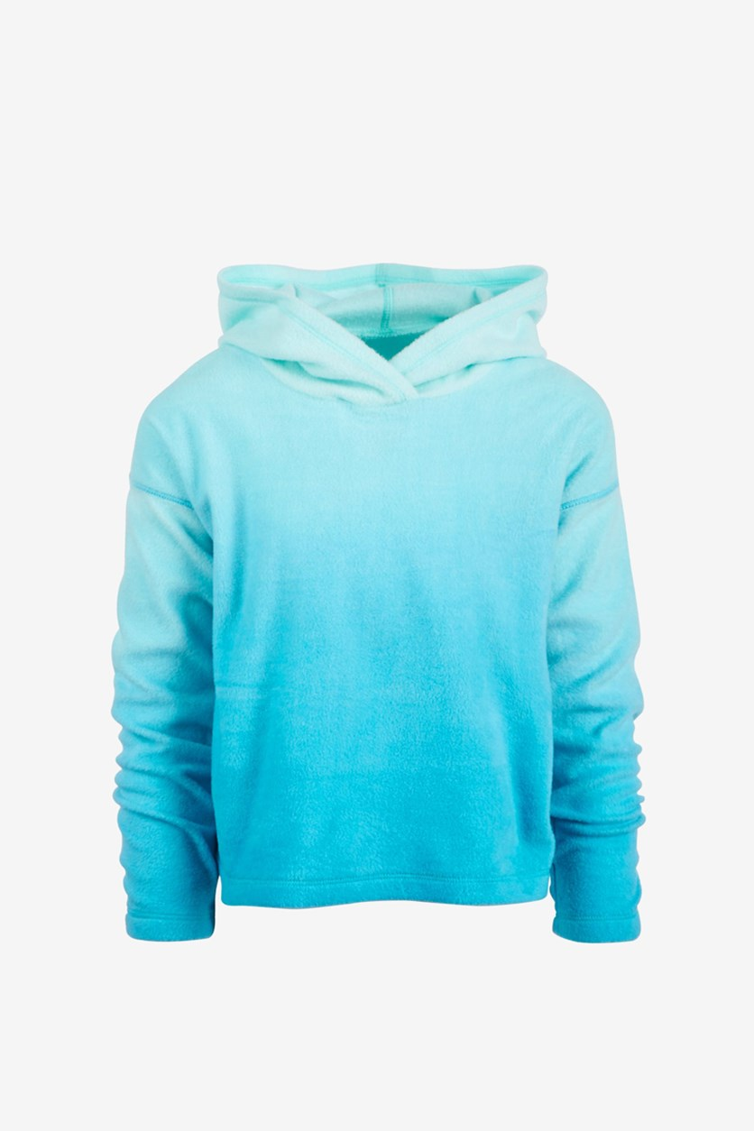 Toddler Girls Ombre Hoodie, Crystal Mist