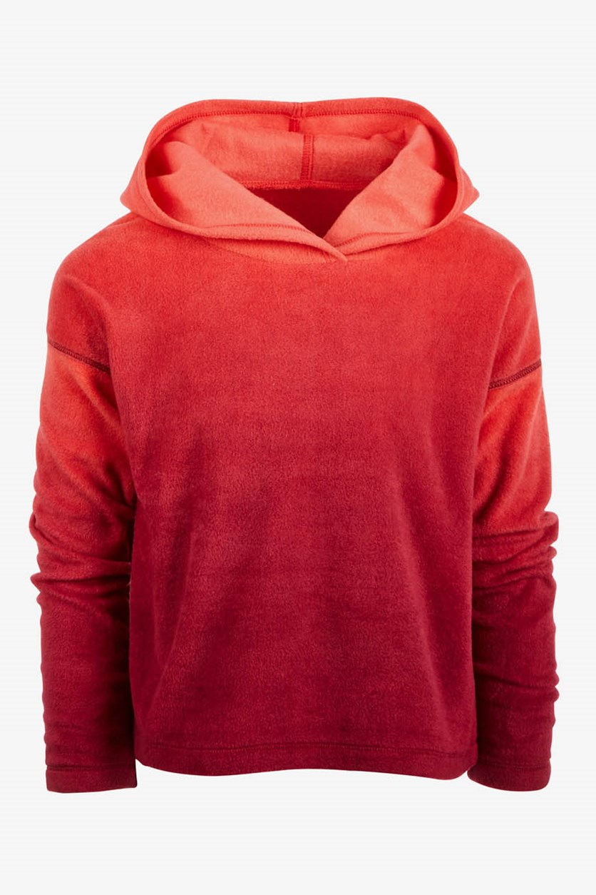 Kid Girls Ombre Hoodie Sweater, Red