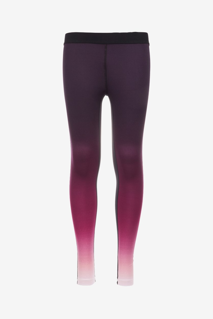 Big Girls Ombre Leggings, Gradiant Lilac