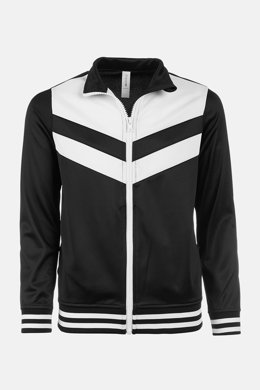 Big Girls Colorblocked Track Jacket, Black