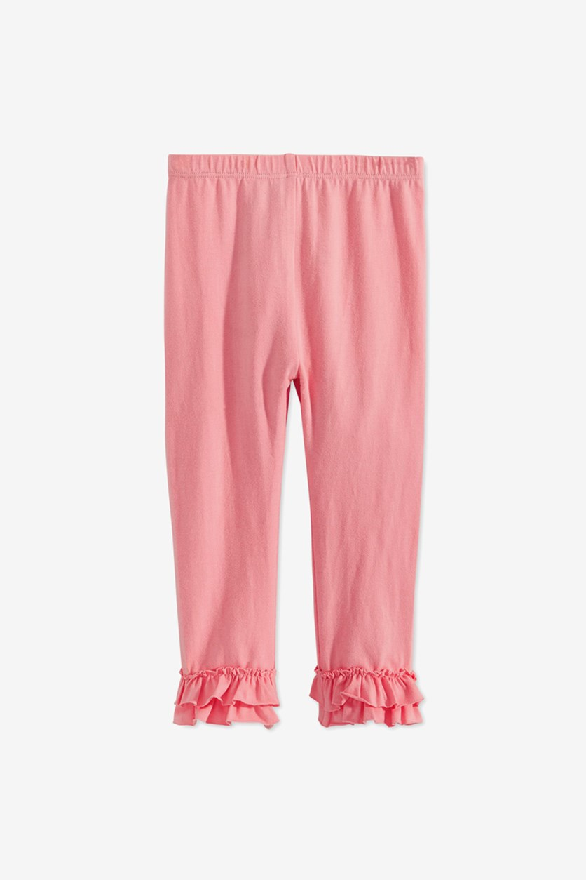 Baby Girls Ruffled-Hem Leggings, Pink