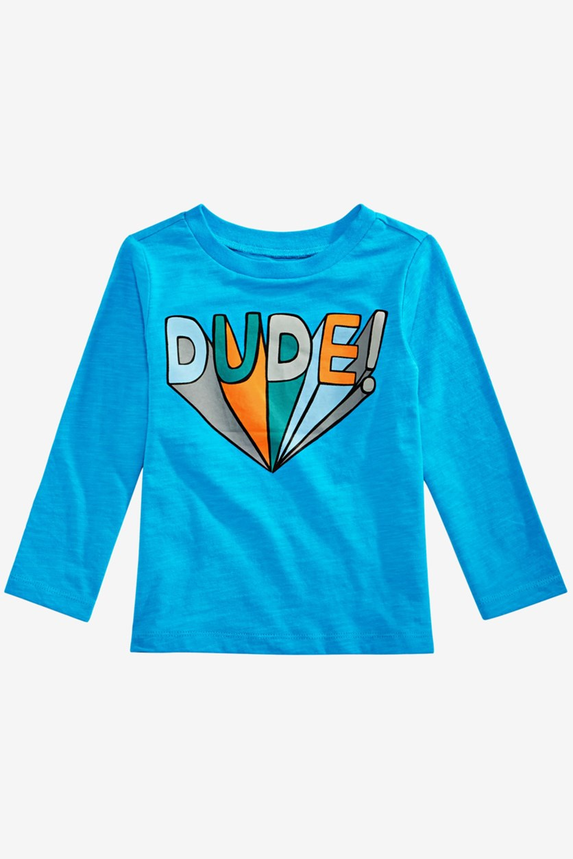 Baby Boy's Long Sleeve T-shirt , Blue Combo