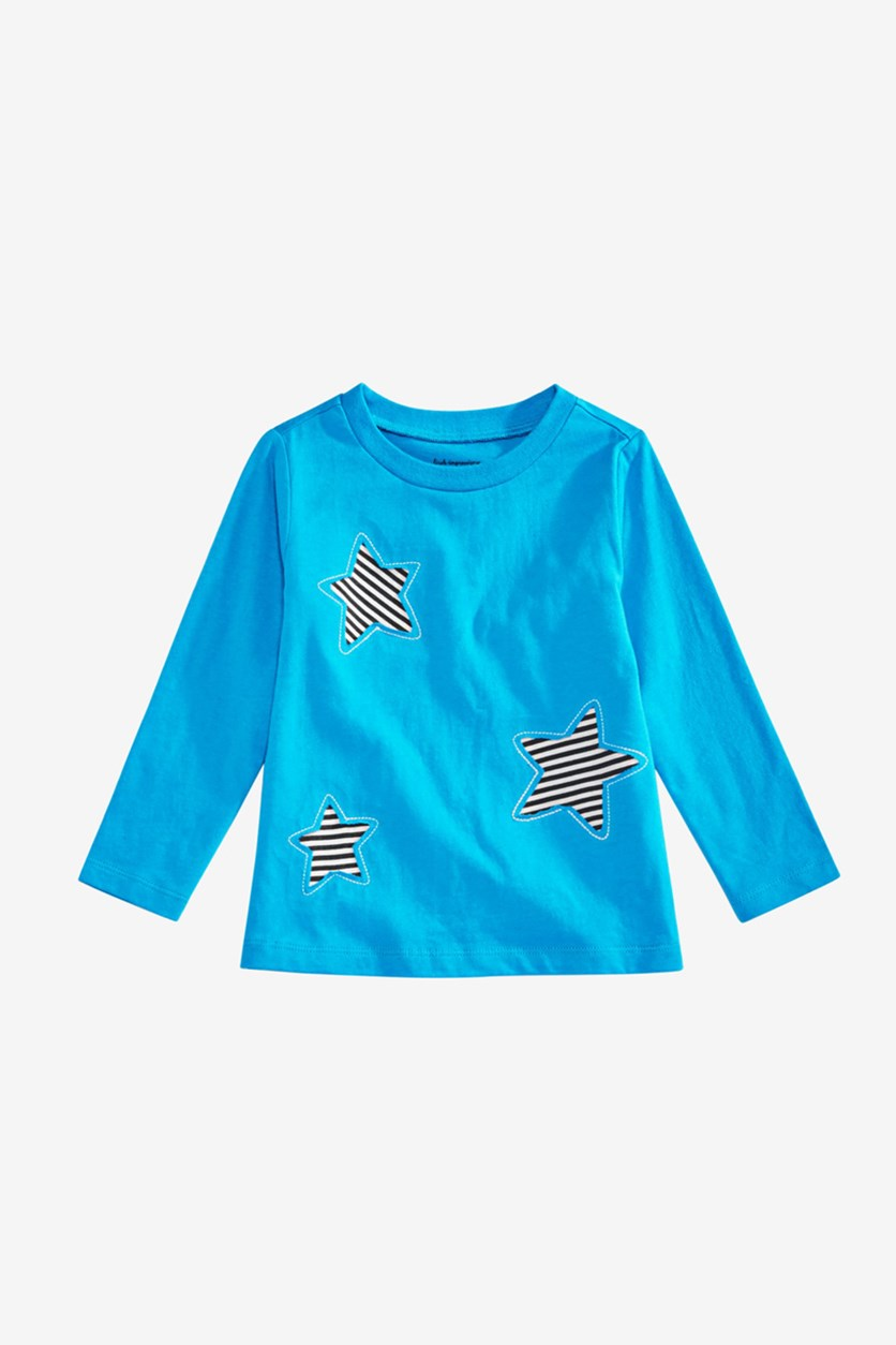 Toddler Boys Star Graphic Cotton T-Shirt, Blue