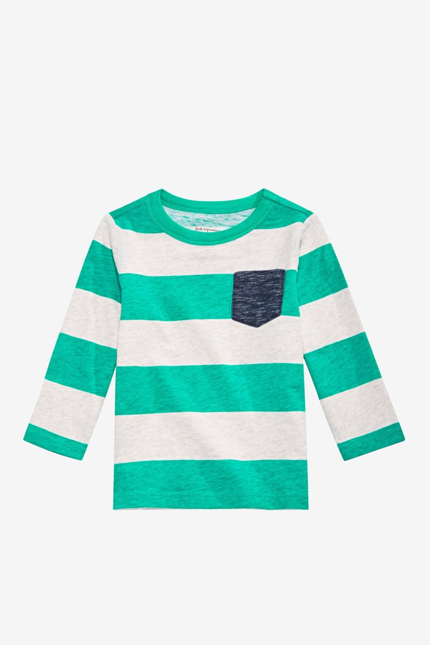 Baby Boy's Ruby Striped Cotton Shirt,Teal Jade