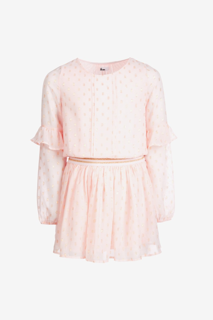 Big Girls Drop-Waist Dress, Blush