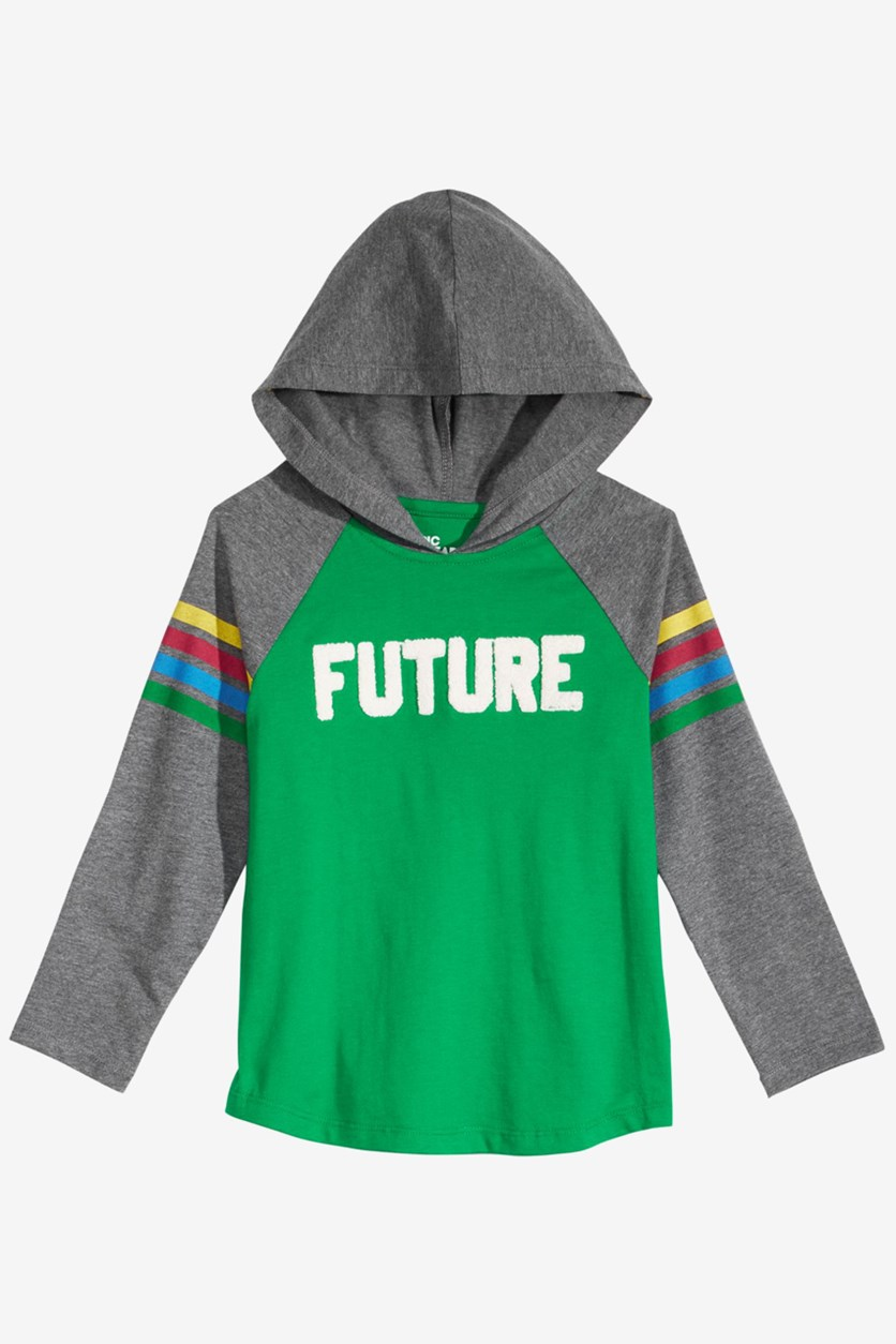 Little Boys Color-Stripe Future Hoodie, Jolly Green