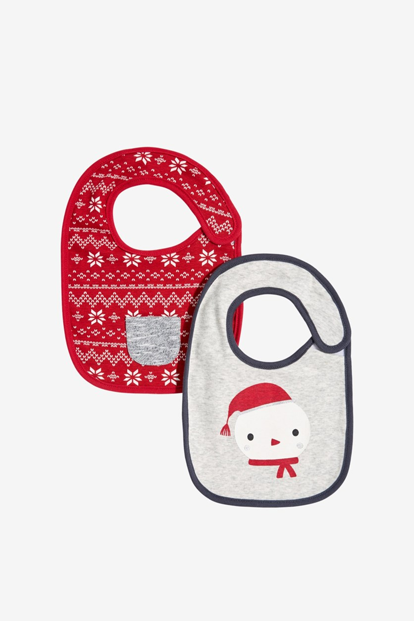 Baby Boy's 2-Pack Holiday Bibs, Total Eclipse