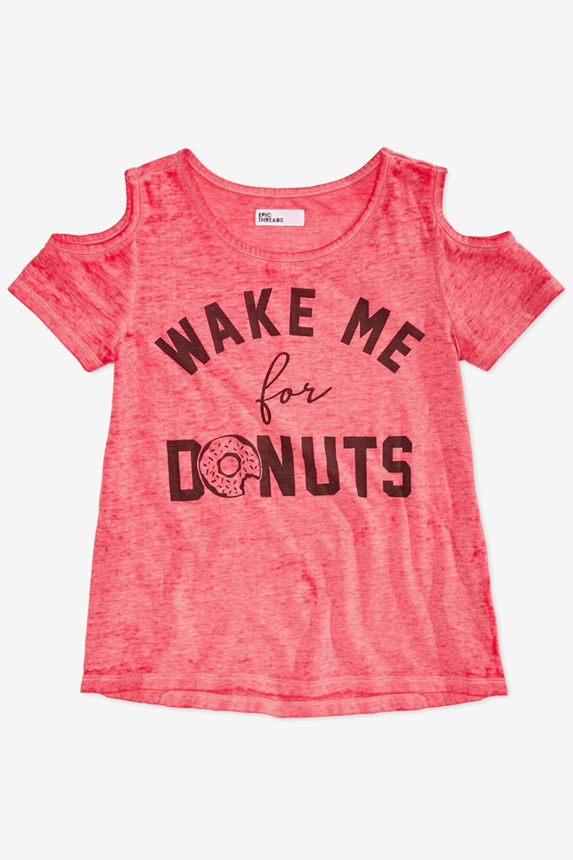 Big Girls Graphic-Print T-Shirt, Teaberry