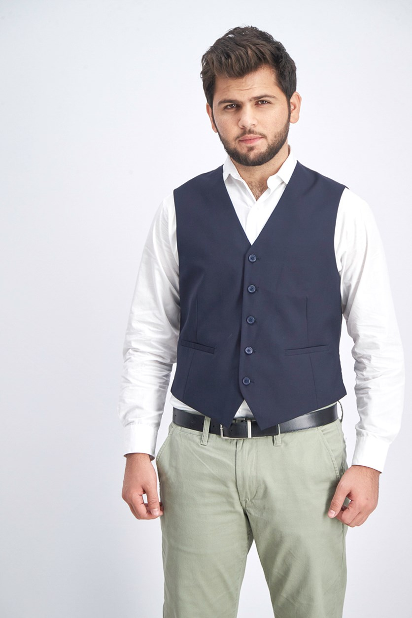 Men's Vest, Dark Blue