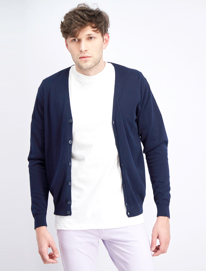Men's Button Down Cardigan, Notte